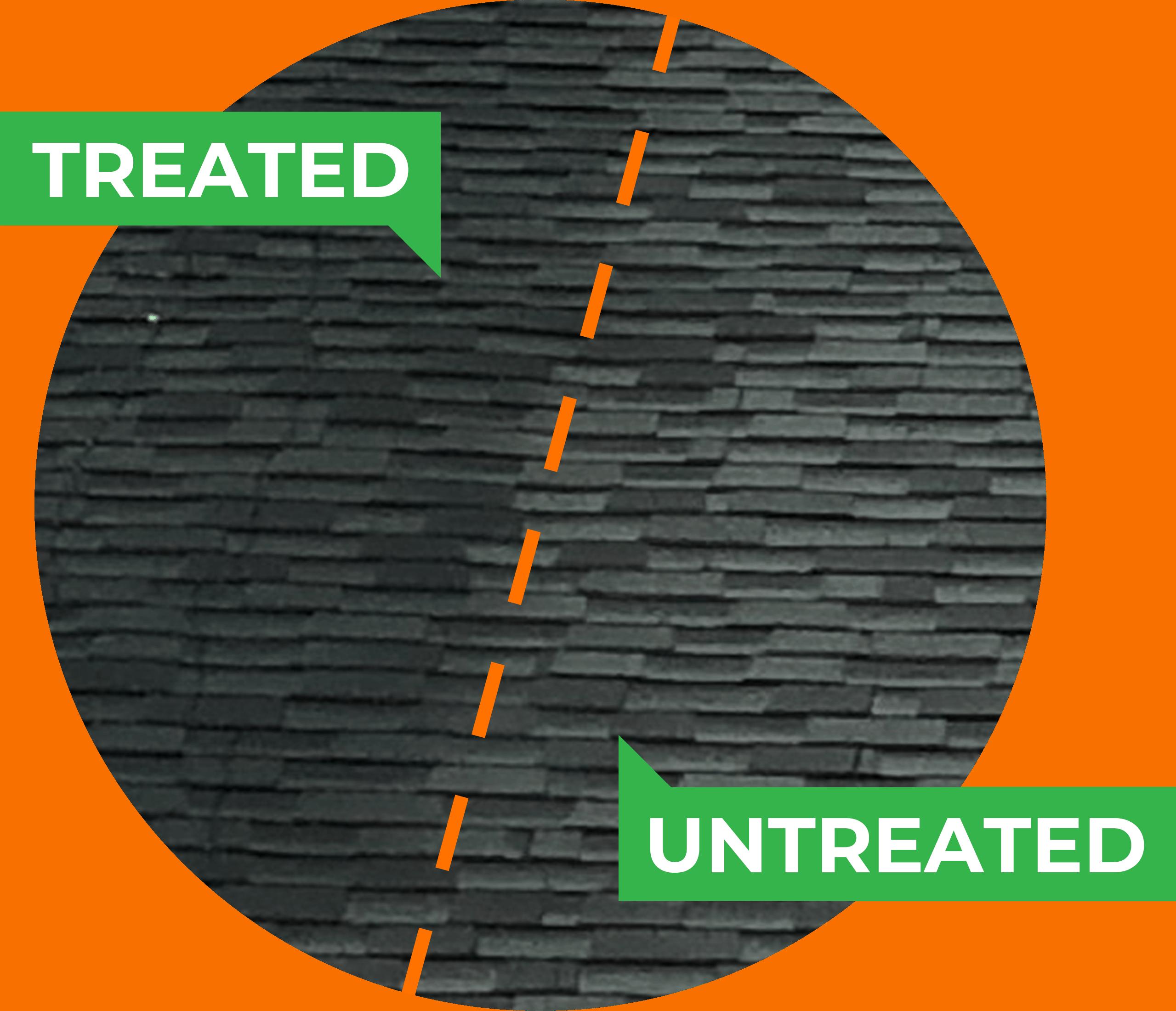 Treated vs. Untreated shingles 3