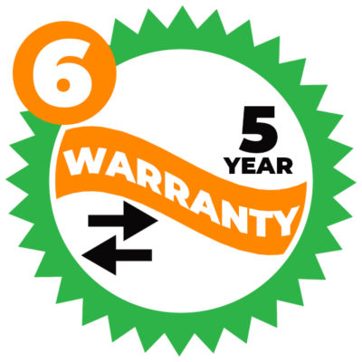 There is a 5-year transferable warranty that comes with the product - image