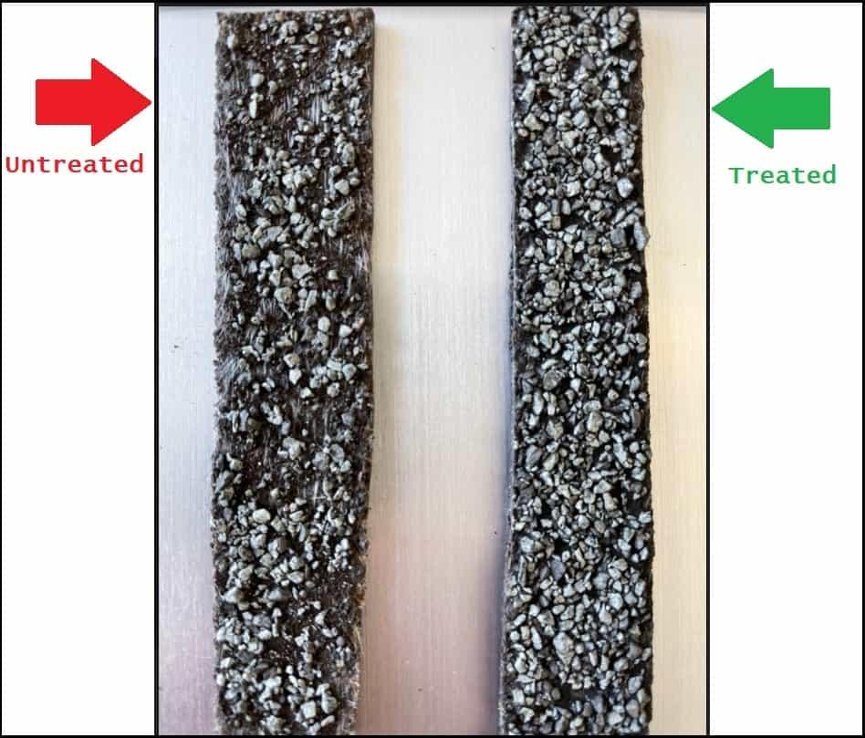 Treated vs untreated shingles